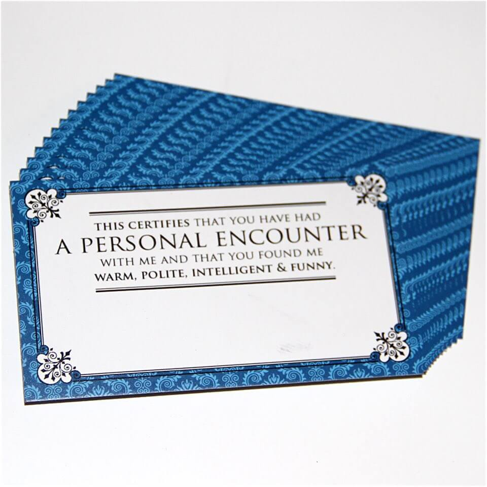 A Personal Encounter Business Cards (12-Pack) at Under Design\'s Shop