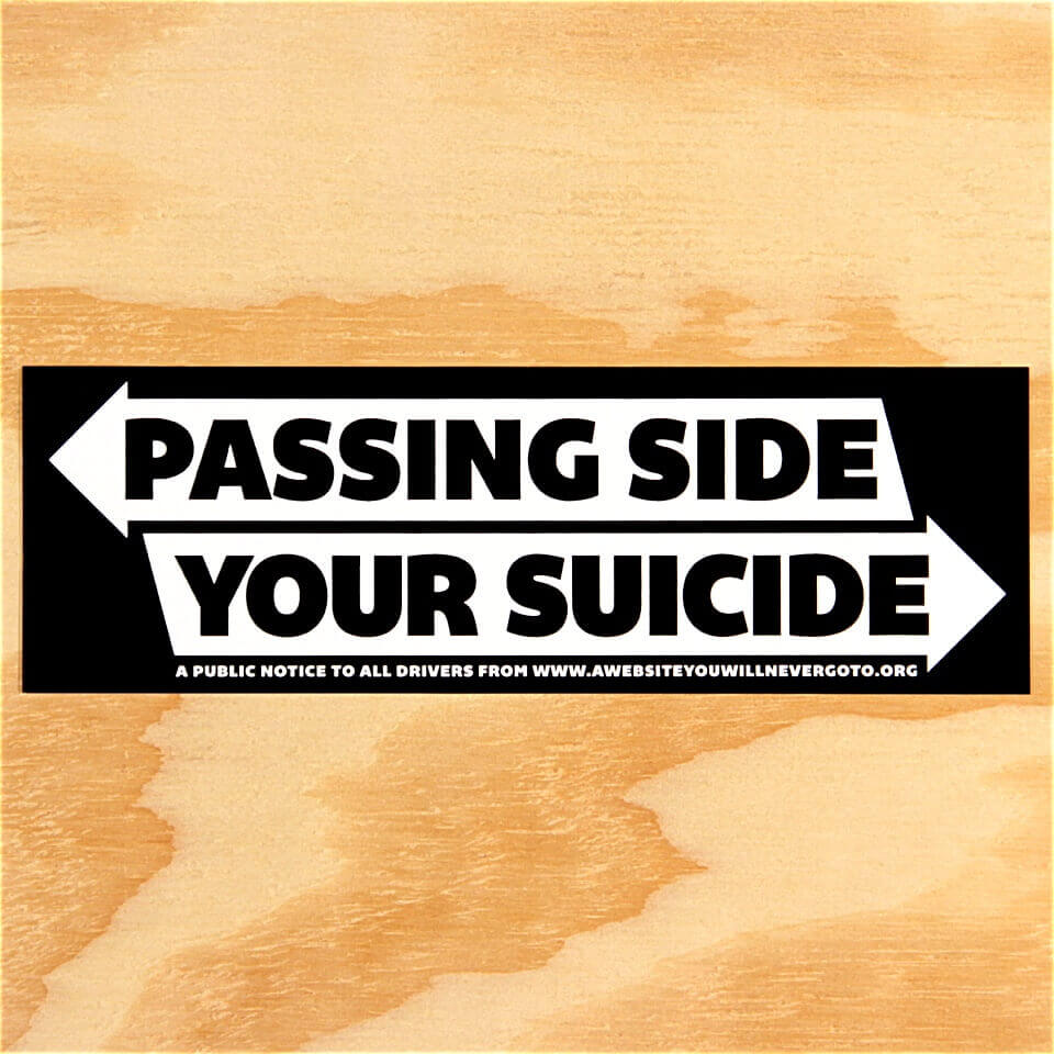 Suicide Passing Side Stickers 2