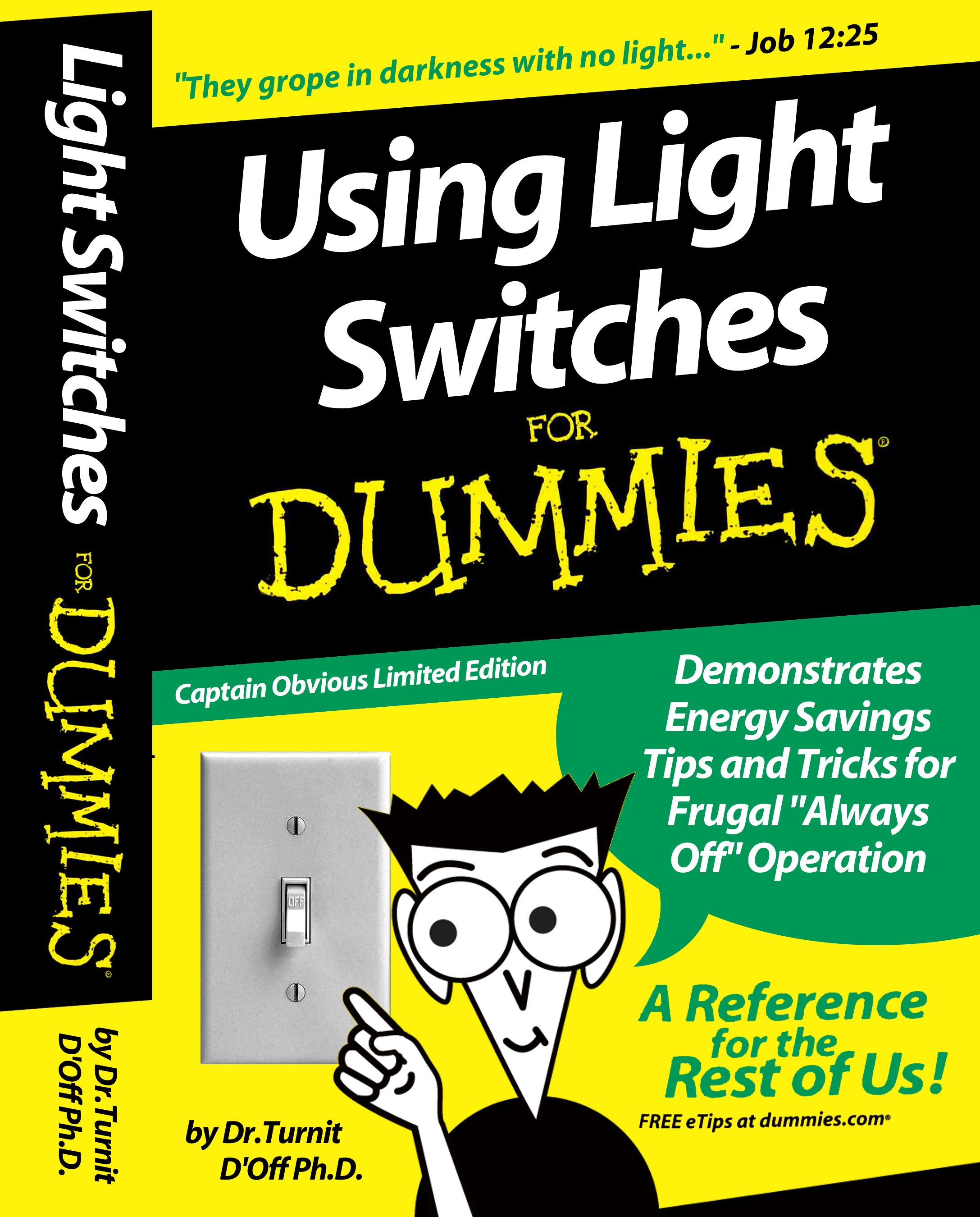 Cigarbox light switch cover for dummies for For dummies template book cover